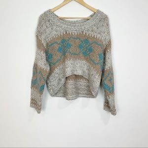 Free People Long Sleeve Wool Blend Sweater Size M